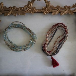 boho jewelry necklaces / bracelets